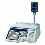 CAS-LP1000N, 30 lb PC Label Printing Scale with Pole Display