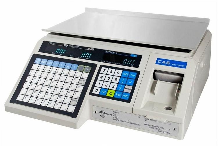 Cas Lp 1000n 30 Lb Pc Label Printing Scale