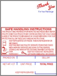 Hobart SP-80/SP-1500/300 Style K Safe Handling Scale Labels