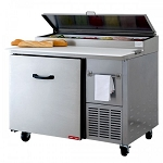 Tor-rey Refrigerated Pizza/Sandwich Prep Table w/Casters PTP-130-01