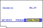 Tec SL-57, 66, 6600, 9000 Non UPC Price Computing Scale Labels