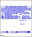 Tec SL-9000 UPC, Safe Handling Price Computing Scale Labels