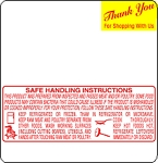 Mettler Toledo 8442 2.4 Safe Handling Scale Labels