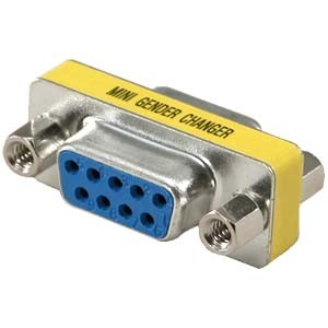 DB9 Female/Female Mini Gender Changer