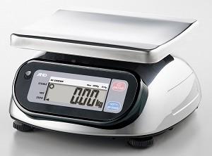 A&D-SK-WP Series Compact Bench Scale