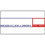 CAS LP-1000 #8000 Non-UPC Thermal Labels