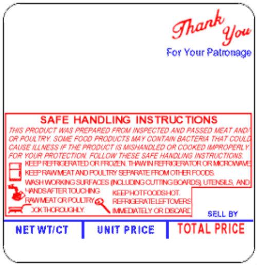 Th317 Hobart 5000te Style D Upc Safe Handling Labels