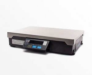 CAS PD-2Z-150, 60/150 x 0.02/0.05 lb Point of Sale Interface Scale