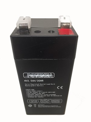 Tor rey Scale Replacement Battery, 4 Volt, 2.5AH/20HR - 21900926
