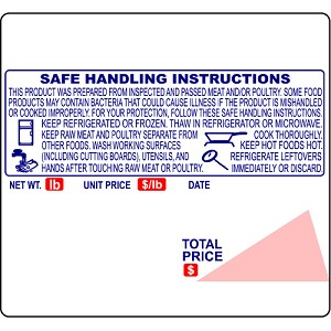 Globe GSP30A, E12 UPC Safe Handling Price Computing Scale Labels